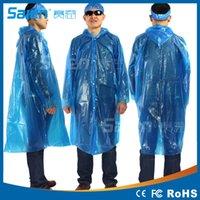 Wholesale 100Pcs Disposable Raincoat Adult Emergency Waterproof Hood Poncho Travel Camping Must Rain Coat Unisex