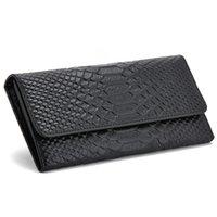 genuine leather wallet - HOT Luxury Fashion Genuine Leather Scales Pattern Women Clutch Handbag Long Wallet color