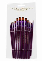 Wholesale The nylon oil painting pen acrylic painting pen and other drawing material with purple penholders