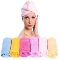 Wholesale Smart Microfiber Bath Towel Hair Dry Hat Cap Quick Drying Lady s Bath Tool E791