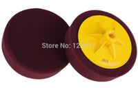 Wholesale K523 material w as MEGUIAR S car cutting pad quot high quanlity car soft Buff Pad with back platem14 m16 foam pad