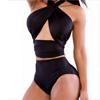 Wholesale New bandage high waist bikini women sexy Monokini bikini