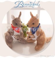 australian christmas - Australian Treasure Kangaroo Plush Toys With Flag For Children Gifts