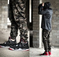 Wholesale New Fashion Hip Hop Streetwear Mens Camouflage Cargo Pants Zipper Up Camo Joggers Designer Clothing Kanye West