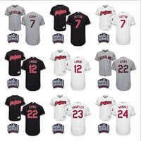 baseball jersey s - 2016 World Series Patch Men s Cleveland Indians Kenny Lofton Francisco Lindor Jason Kipnis Brantley baseball jerseys Stitched