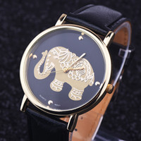 belt weaving patterns - Fashion Casual Women Watches Elephant Printing Pattern Weaved Faux Leather Quartz Watch Relogio Feminino new arrival