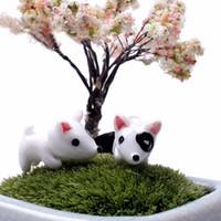 Wholesale 2016 Cute Garden Decor Puppy Dog Garden Decoration Jardin Ornaments Natural Resin Garden Jardin