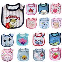 Wholesale Boys and Girls Baby Bibs Cotton Cartoon Kids layer Waterproof Bibs Toddler Pinafore Apron Infant Feeding Pinny Kerchief Towels B511