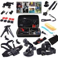 Wholesale 15in1 Gopro Accessories Set GoPro Mount Wrist Strap Helmet Extention Kits Mount Chest Belt Mount Bobber for SJ4000 Gopro Hero