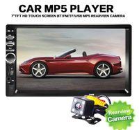 Acheter Toucher des appels vidéo-Universal 7 pouces 2-DIN voiture DVD voiture audio lecteur stéréo 7018B écran tactile voiture vidéo lecteur MP5 TF SD MMC USB radio FM Appel mains libres