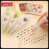 Wholesale hot New creative cartoon push correction tape with cute lace modified stationery Fashion gift