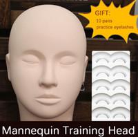 Wholesale Massage Practice Mannequin Training Head Facial Makeup False Eyelash Extension