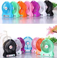 adjustable plastic tables - Free DHL Mini Protable Fan Multifunctional USB Rechargerable Kids Table Fan LED Light Battery Adjustable Speed F95B Silent Fan