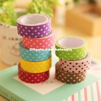 album version - Korean version of the new creative simple wave point paper tape sticker album DIY decorative stickers