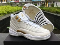 Wholesale Excellent Quality Air Jordan Retro XII OVO White Metallic Gold White GOLD WHITE White Gold Jordan Men s Air Jordans Basketball Shoes