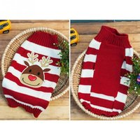 Wholesale Pet Dogs Cats Christmas Sweater Striped Dog Clothes Puppy Sweater Clothing
