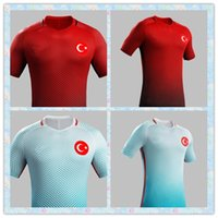 blank football jersey - Fast Thailand European Cup Turkey Blank Soccer Jersey Red White Light Blue Jerseys Home Away futbol Jerseys football Shirts