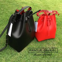 best fashion logos - best selling Mansur Gavriel bucket bag women hand bag lady shoulder bag logo prited