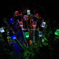 Wholesale 1Pc Solar LED Path Light Outdoor Garden Lawn Landscape Stainless Steel Lamp F00303 SPDH