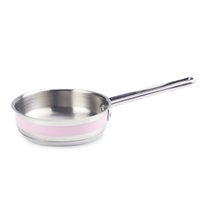 baby fry food - mini small pan stainless steel pot for baby pink fry pan for complementary food cm in diameter