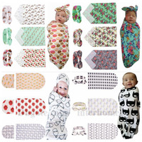 batman baby blanket - Baby Poke Swaddle Cap Pikachu Wrap Hats Newborn Ins Swaddle Blankets Knot Caps Set Floral Swaddling Batman Ins Sleeping Bag SleepSacks B1226