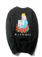 american tech - European and American street tide brand Ripndip tracksuit Steep Tech sweatshirt Cat hoodies men women Hip hop suprem sweat shirt