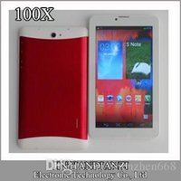 "Cheap 100X 7 inch 7"" 3G Phablet Android 4.4 MTK6572 Dual Core 8GB 512MB Dual SIM GPS Phone Call WIFI Tablet PC Bluetooth C-7PB"