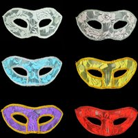 adult birthday supplies - The new Halloween mask dance party mask birthday party supplies in Europe and America beautiful lace mask masks colors