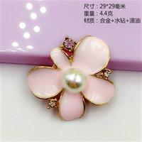 29 * 29mm Corea de la moda china barata de metal grueso de la aleación del esmalte accesorios para el cabello de diamantes de imitación de la margarita, bricolaje encantos de flores joyería que hace