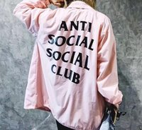 anti bat - ANTI SOCIAL SOCIAL CLUB Jacket Women Men High Quality Hip Hop ASSC Windbreaker Top Tees ANTI SOCIAL SOCIAL CLUB Jacket
