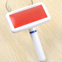 Wholesale 2016 new Self Cleaning Slicker Comb Brush Pet Dog Cat Puppy Grooming Shedding Massaging