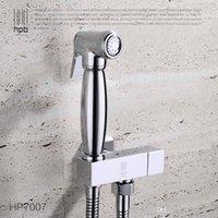 Wholesale Han Pai Brass Bathroom Bidet Faucet Toilet Portable Spray With Shower Holder Handheld Bidet grifo ducha HP7007