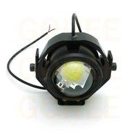 Wholesale 1 piece W Motorcycle LED spotlight Indicator headlight electric bicycles bike yamah honde Harley Bobber Choppe