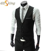 Wholesale Fall Men Suit Vests Classic Wine Red Sleeveless Gilets Homme Casual Waistcoat Colete Masculino Male Erkek Yelek Chaleco Hombre