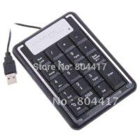 Razer Standard Wired Wholesale! New 100% 1pcs 19 Keys Slim Mini USB Numeric Number Keypad Keyboard For Laptop PC, Free Shipping