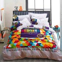 barcelona covers - Barcelona Bedding Set Cotton Brushed Bed Linen Comforter Duvet Cover Sets Bedsheet Style Queen King Size Bedclothes