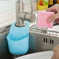 Wholesale 19 x8 cm Pvc Mini Bathroom Hasp Hook Shelves Soap Holder Kitchen Dish Cloth Sponge Holder Storage