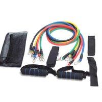 Wholesale 11Pcs Resistance Bands Yoga Pilates Crossfit Fitness Equipment Elastic Pull Rope Workout Latex Tube Band Set Exercise Training