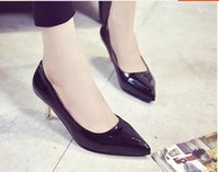 Wholesale Summer brand new kitten heel women shoes fashion comfortable causal shoes party shoes