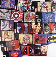batman tie - EMS free The Avengers wallets purse superhero wallet Marvels wallet card Holder Cartoon students wallets Superman Batman Wallets