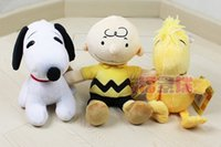 Wholesale Soft Snoopy Plush Toys Peanuts Comics Charlie Brown And Snoopy Wooddstock Plush Dolls Stuffed Dolls Kids Toys
