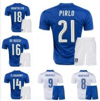 Cheap Free shipping 2016 Italy soccer Jersey kits top PIRLO El Shaarawy Balotelli Verratti MARCHISIO national team football shirts