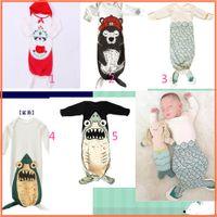 Cheap Newborn Infant Sleeping Bags Kids Baby Boys Grils Infant Long Sleeve Romper Pajamas Mermaid Tail Sleepwear Sleeping Bags mix order