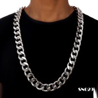 african singers - Aluminum Extra coarse Twisted Cuban Link Chains Exaggerated Necklace Hip Hop Jewelry Hip hop Singer Hipster Men Women Joyas