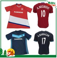 Wholesale 16 Middlesbrough home away tops soccer jerseys adult training suits Middlesbrough A NEGREDO A BARRAGAN STUANI LEADBITTER shirts