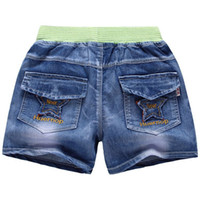 Wholesale 2016 Hottest Toousers and Hot Selling Han edition cartoon children wash the shorts denim shorts for T kids Boys