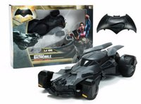 battery operated toy cars - No Retail Box Batman VS Superman Remote Radio Control Motion Sensing RC Car Battery Operated wd Action Figure Model Toys