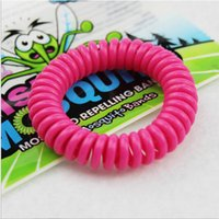 Wholesale good quality Mosquito Repellent Band Bracelets Anti Mosquito Pure Natural Baby Wristband mixed colors