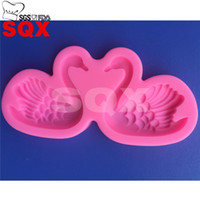 Wholesale Loving couple goose shape silicone cake mold cake decorating tools silicone mold soap kitchen accessories MR65
