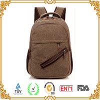 backpack makers - oem BAG CANVAS FABRIC material side zipper open cover canvas backpack bag in xiamen bag maker